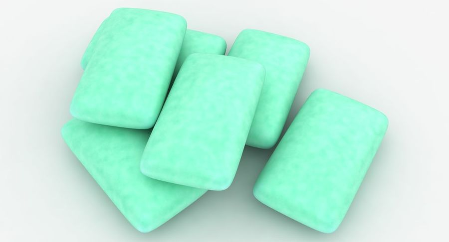 Chewing Gum Pile royalty-free 3d model - Preview no. 6