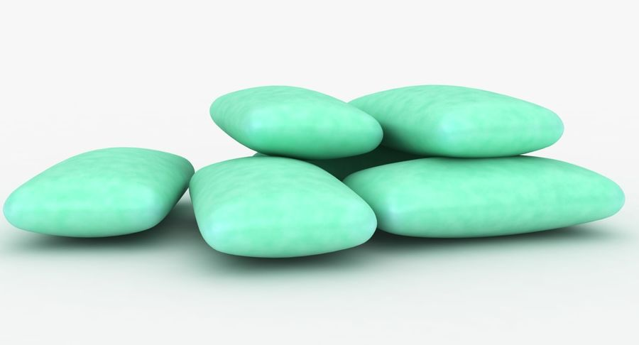 Chewing Gum Pile royalty-free 3d model - Preview no. 10