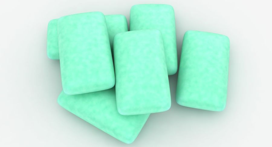 Chewing Gum Pile royalty-free 3d model - Preview no. 12