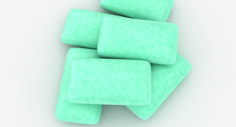 Chewing Gum Pile royalty-free 3d model - Preview no. 8