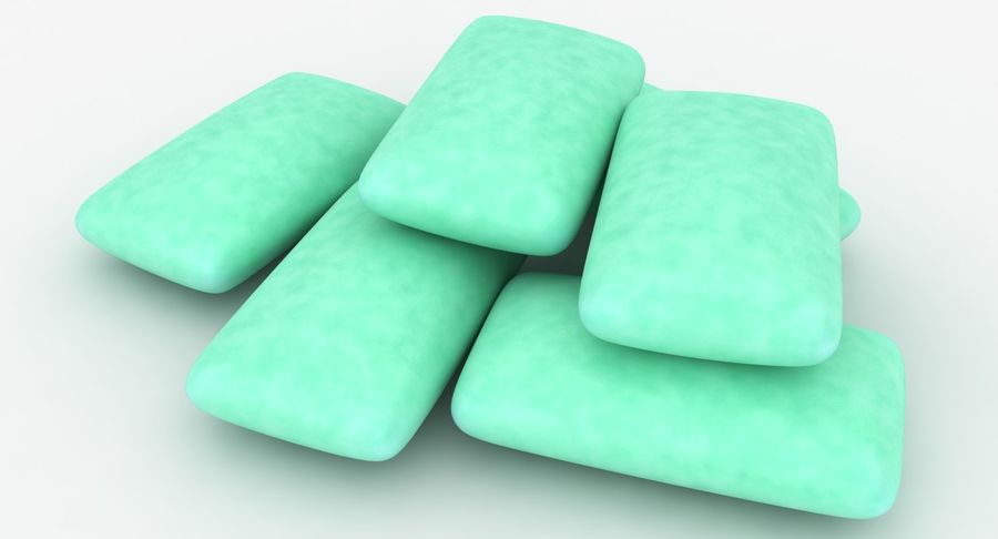 Chewing Gum Pile royalty-free 3d model - Preview no. 9