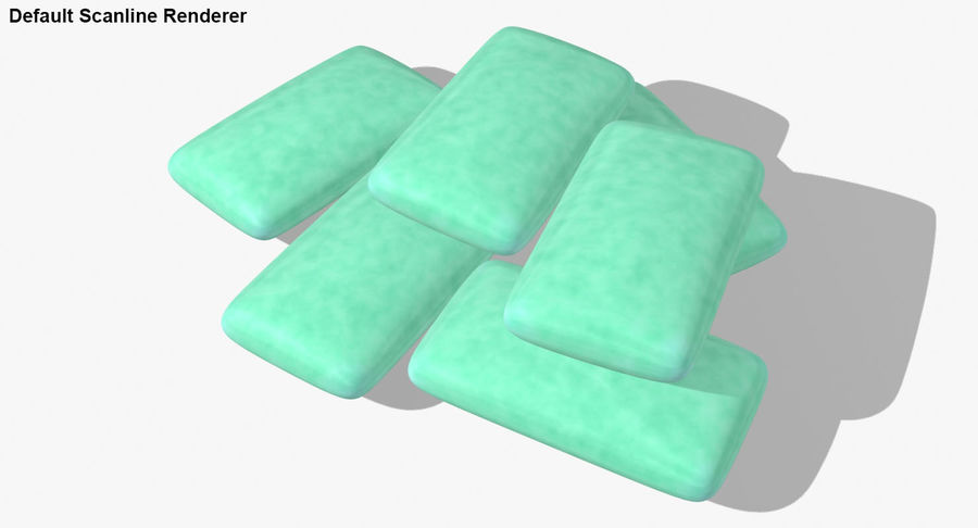 Chewing Gum Pile royalty-free 3d model - Preview no. 24