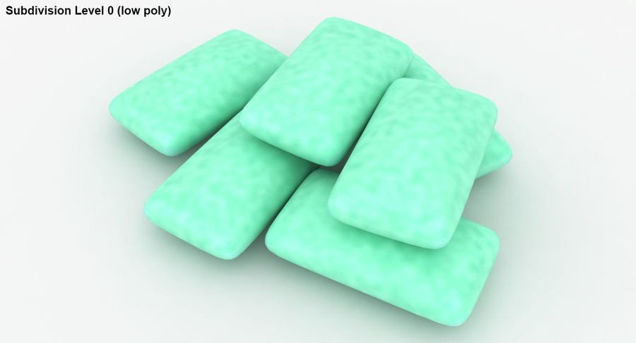 Chewing Gum Pile royalty-free 3d model - Preview no. 21