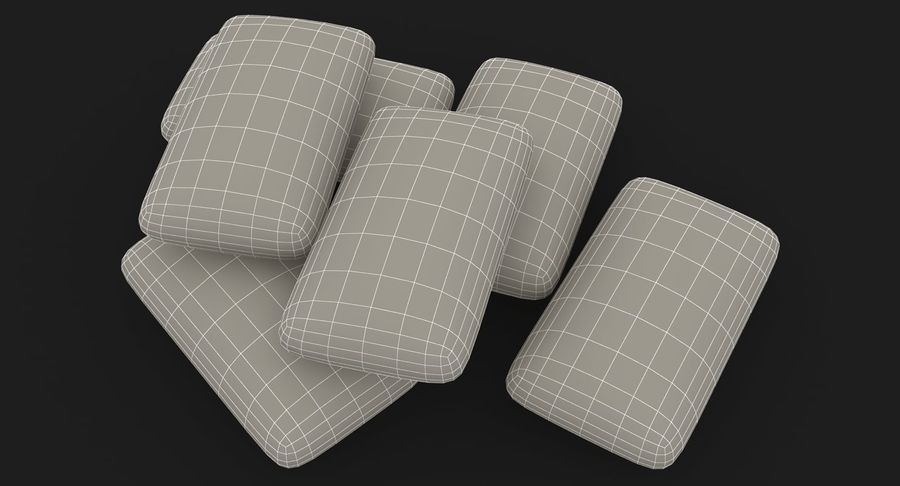 Chewing Gum Pile royalty-free 3d model - Preview no. 18