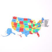 Karte der Vereinigten Staaten von Amerika USA 3d model
