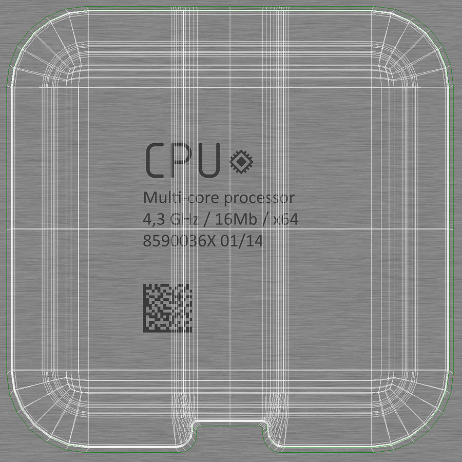 CPU royalty-free 3d model - Preview no. 14