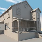Låg poly hem 3d model