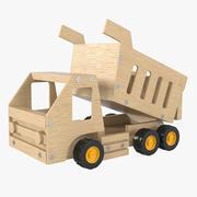 Caminhão de madeira 3d model