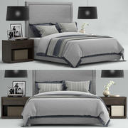 RH Wallace Upholstered Bed 3d model