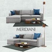 Sofá Meridiani Belmon 3d model