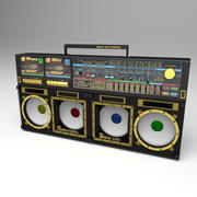 Boombox (Personal Disco Component) 3d model
