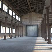 Old Warehouse with Pillars 3d model