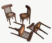 Stilize Eski Sandalye 3d model
