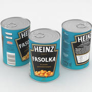 Frijoles Horneados Heinz en Salsa de Tomate Lata de 415g modelo 3d