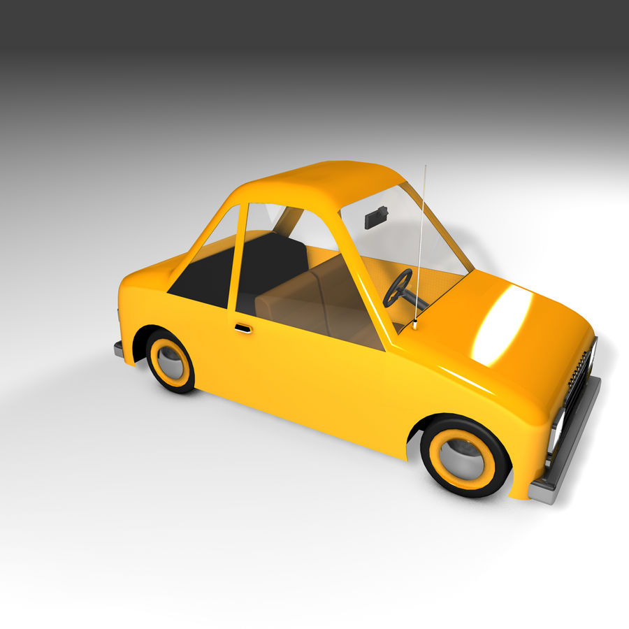 Toon Car Canardly royalty-free 3d model - Preview no. 25