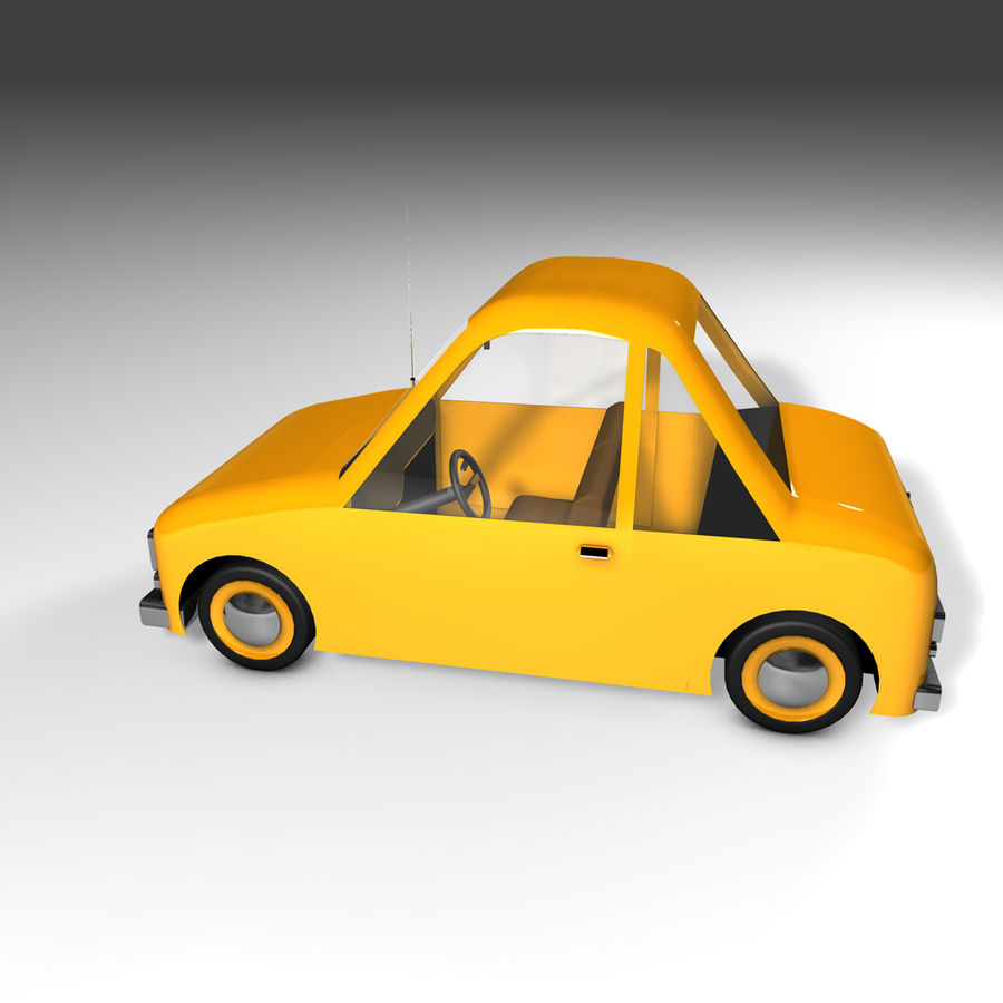 Toon Car Canardly royalty-free 3d model - Preview no. 35