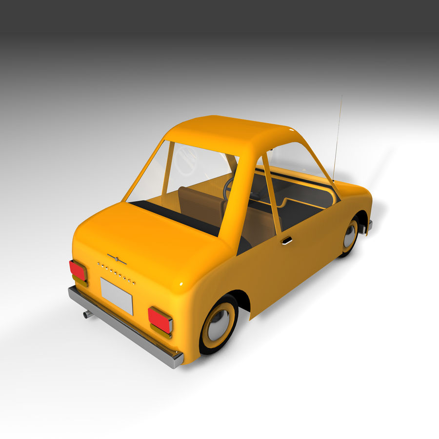 Toon Car Canardly royalty-free 3d model - Preview no. 29