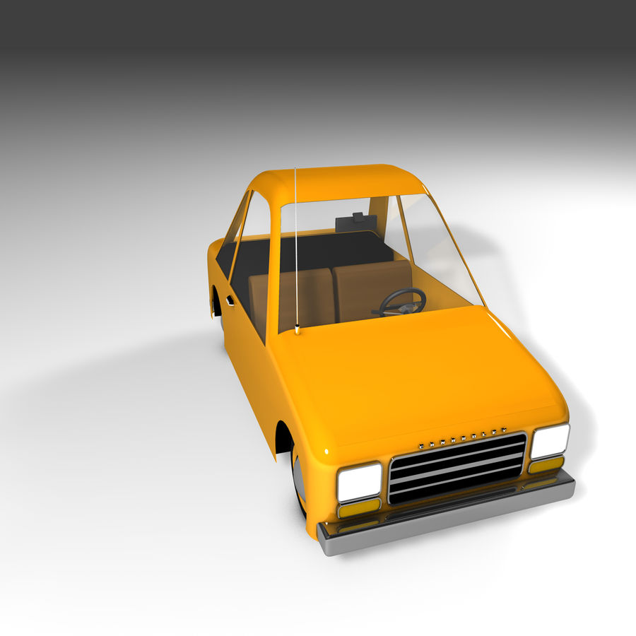 Toon Car Canardly royalty-free 3d model - Preview no. 23