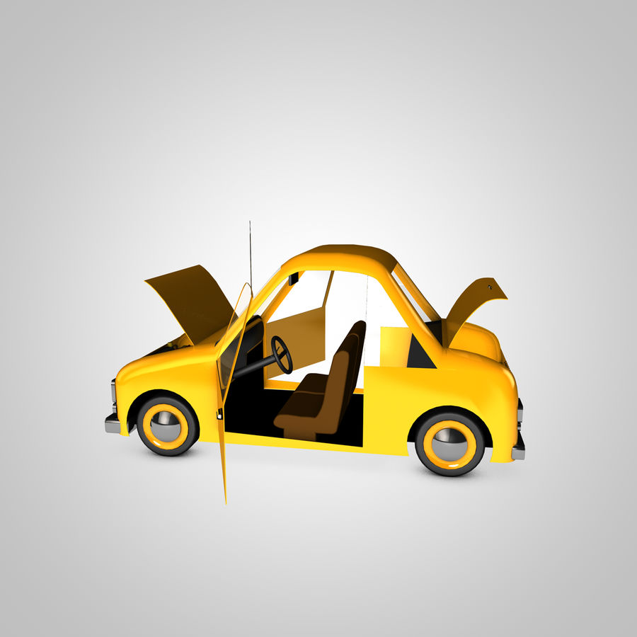 Toon Car Canardly royalty-free 3d model - Preview no. 15