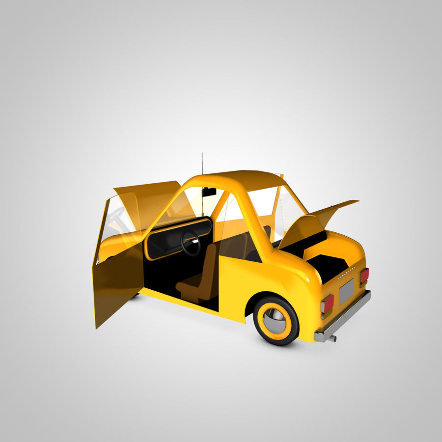 Toon Car Canardly royalty-free 3d model - Preview no. 14