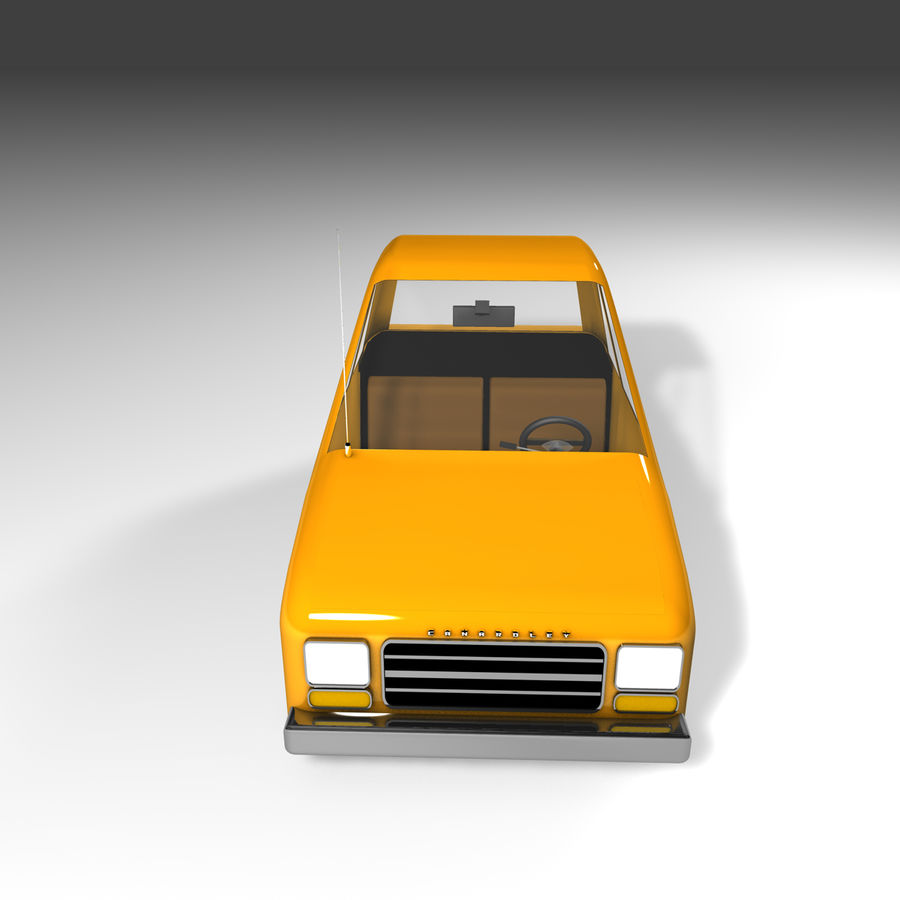 Toon Car Canardly royalty-free 3d model - Preview no. 22