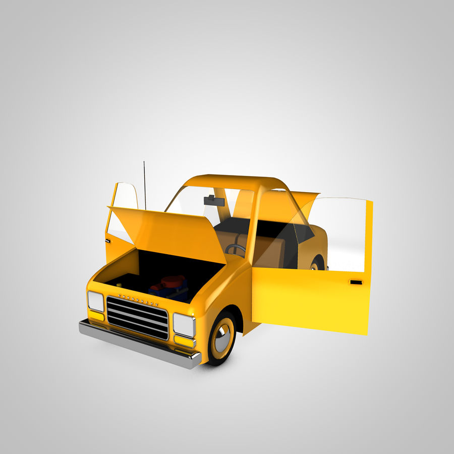 Toon Car Canardly royalty-free 3d model - Preview no. 2