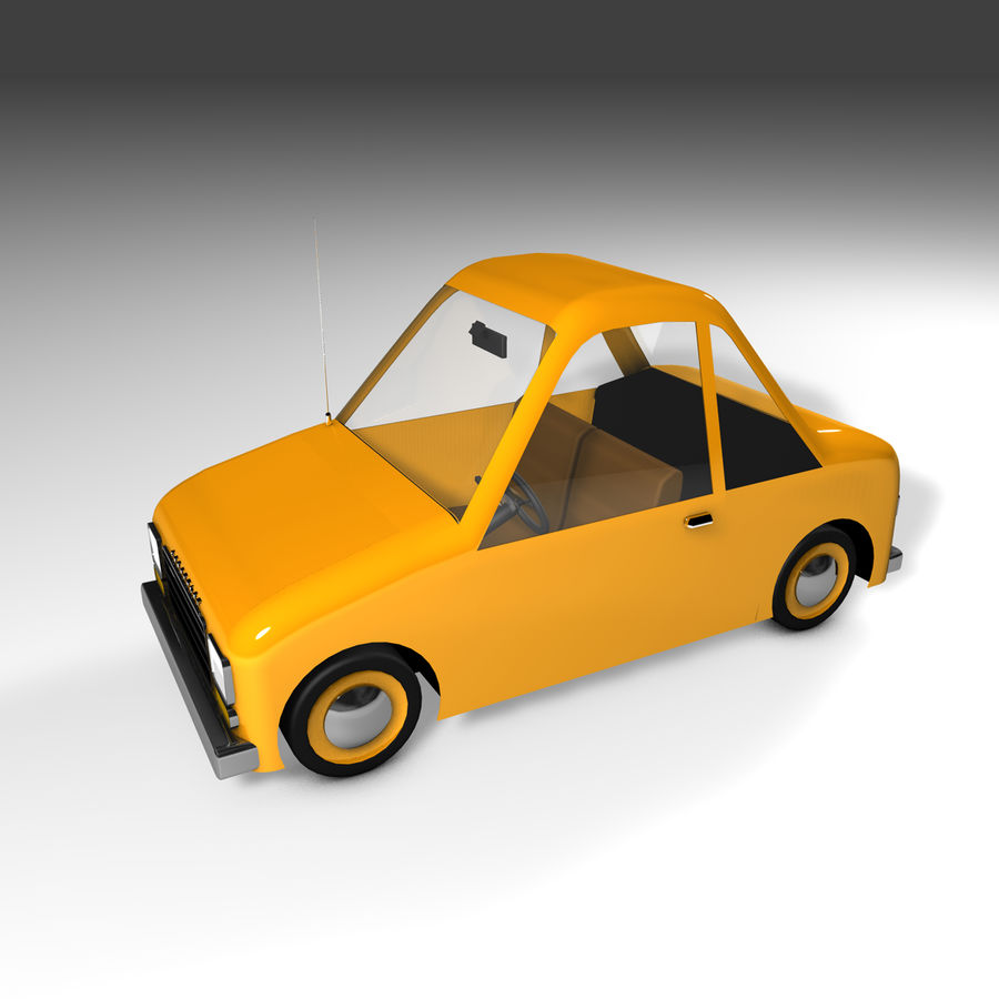 Toon Car Canardly royalty-free 3d model - Preview no. 37