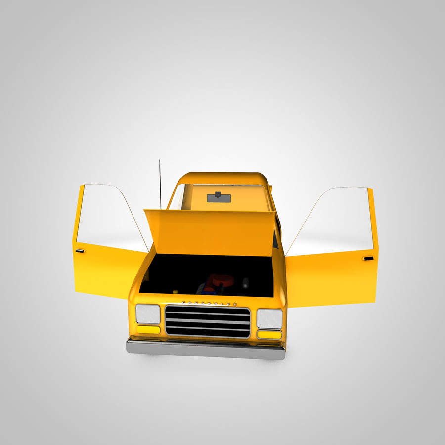 Toon Car Canardly royalty-free 3d model - Preview no. 5