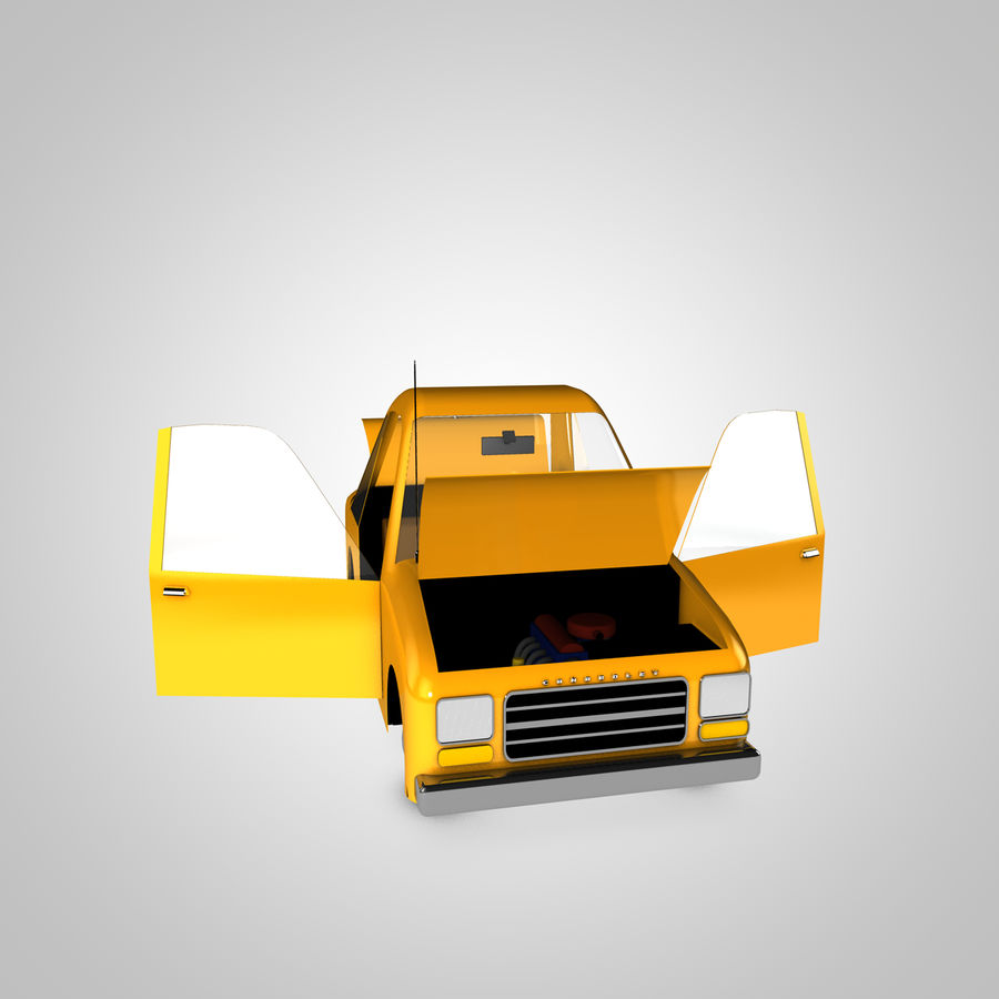 Toon Car Canardly royalty-free 3d model - Preview no. 6