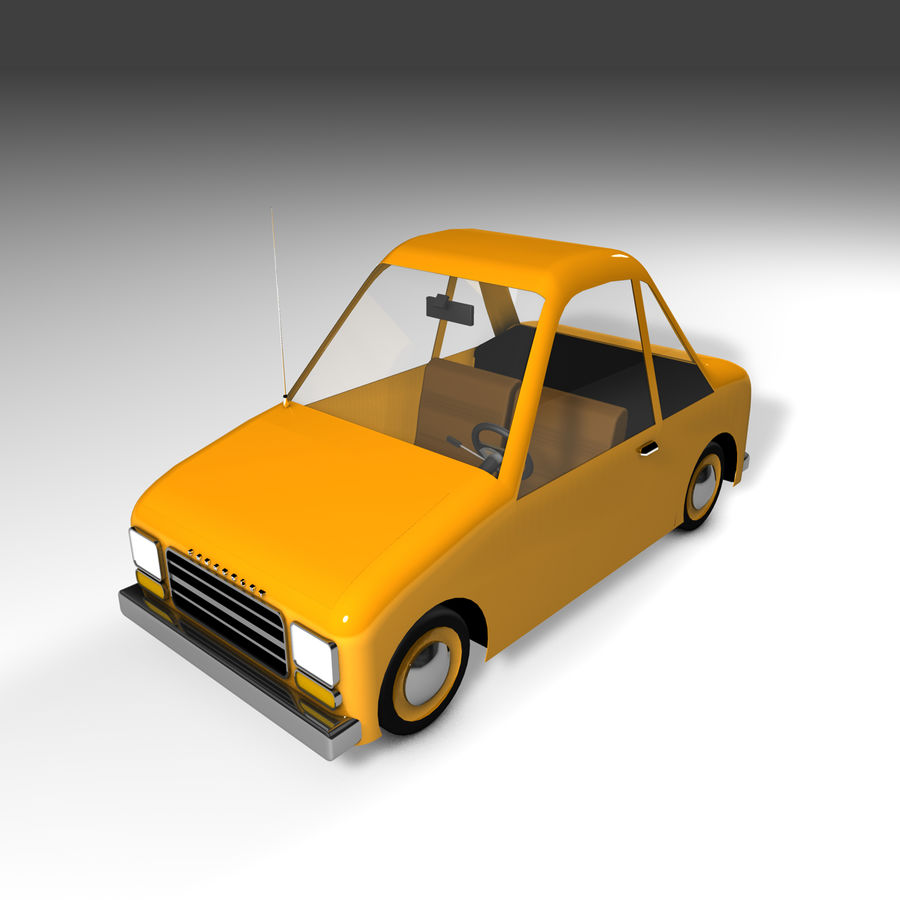 Toon Car Canardly royalty-free 3d model - Preview no. 20