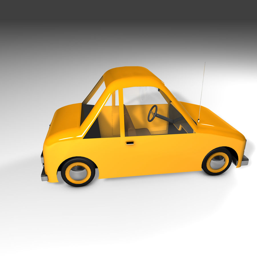Toon Car Canardly royalty-free 3d model - Preview no. 27