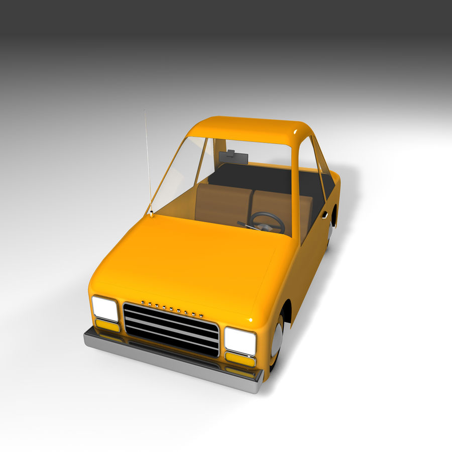 Toon Car Canardly royalty-free 3d model - Preview no. 21