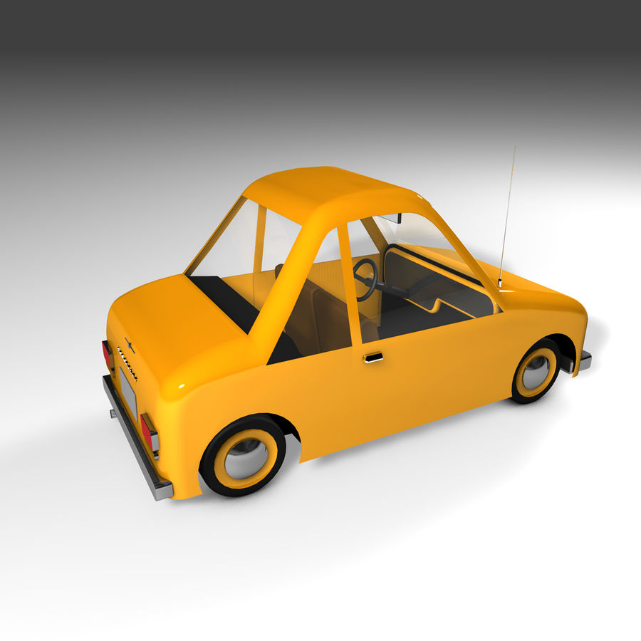 Toon Car Canardly royalty-free 3d model - Preview no. 28