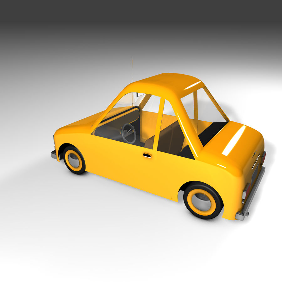 Toon Car Canardly royalty-free 3d model - Preview no. 34