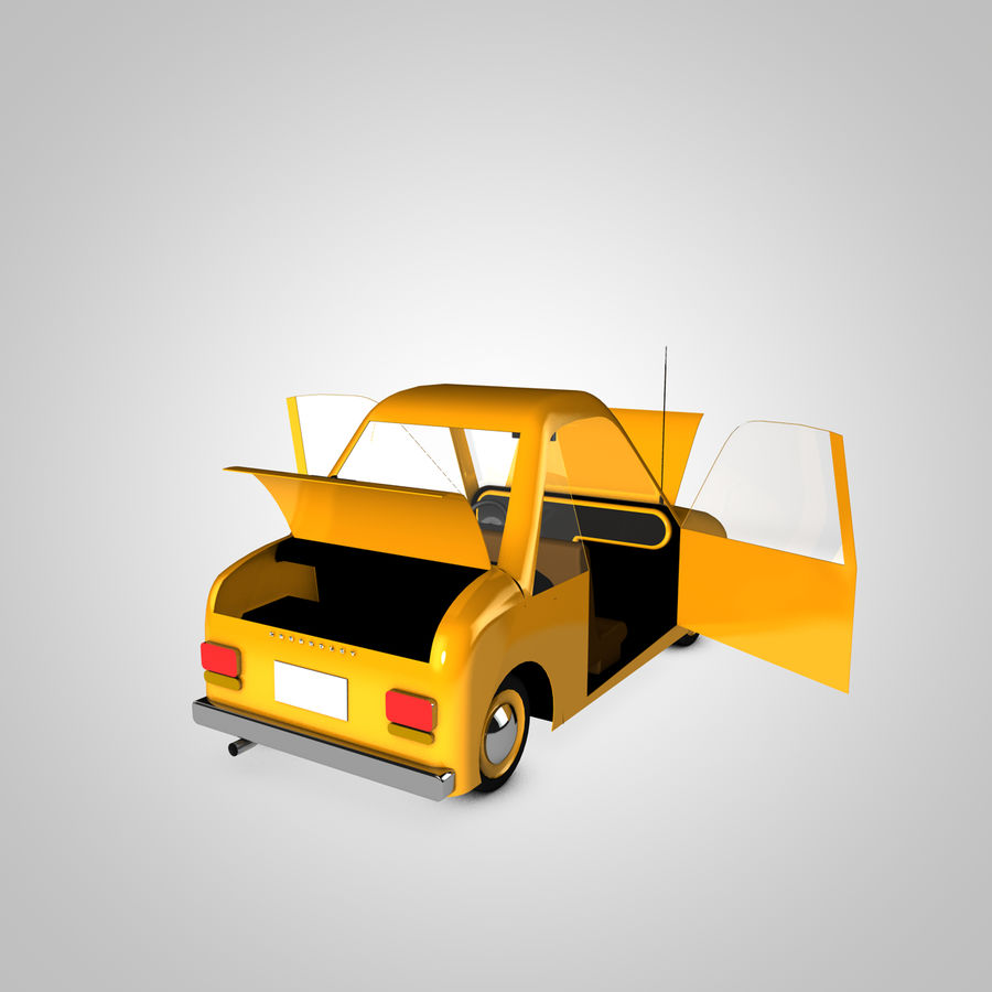 Toon Car Canardly royalty-free 3d model - Preview no. 11