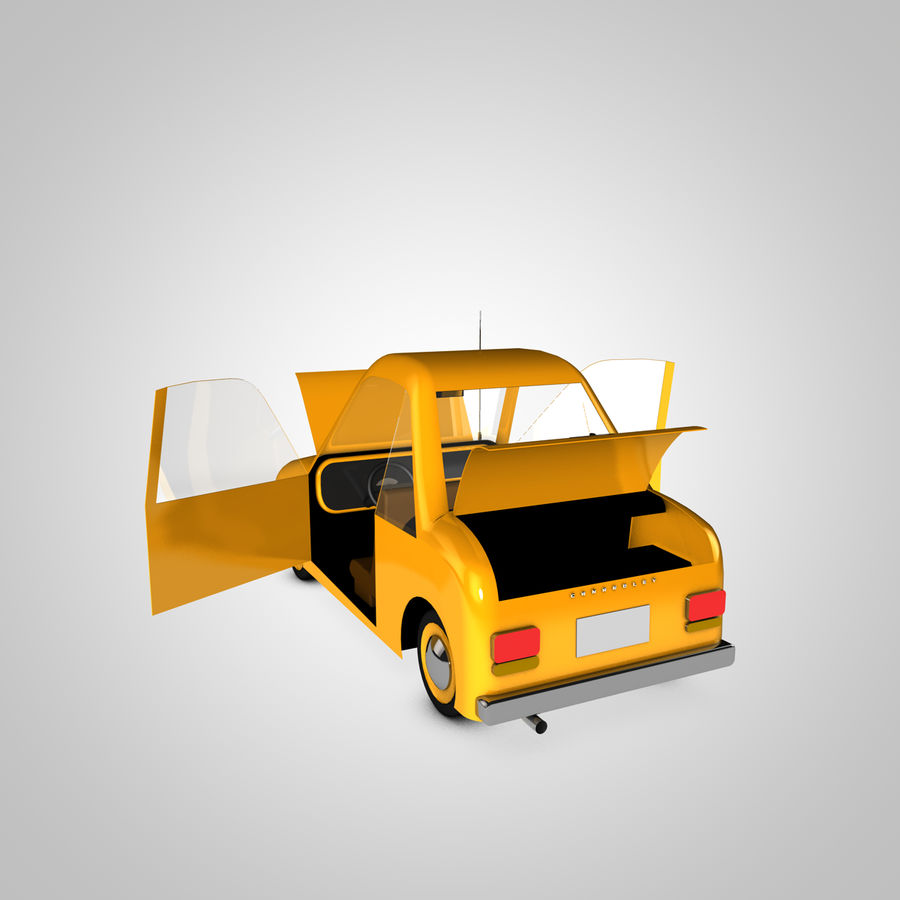 Toon Car Canardly royalty-free 3d model - Preview no. 13