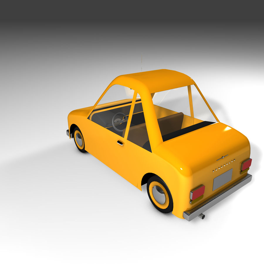 Toon Car Canardly royalty-free 3d model - Preview no. 33