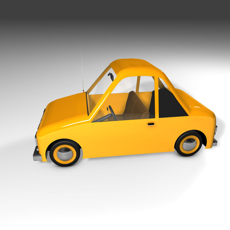 Toon Car Canardly royalty-free 3d model - Preview no. 36