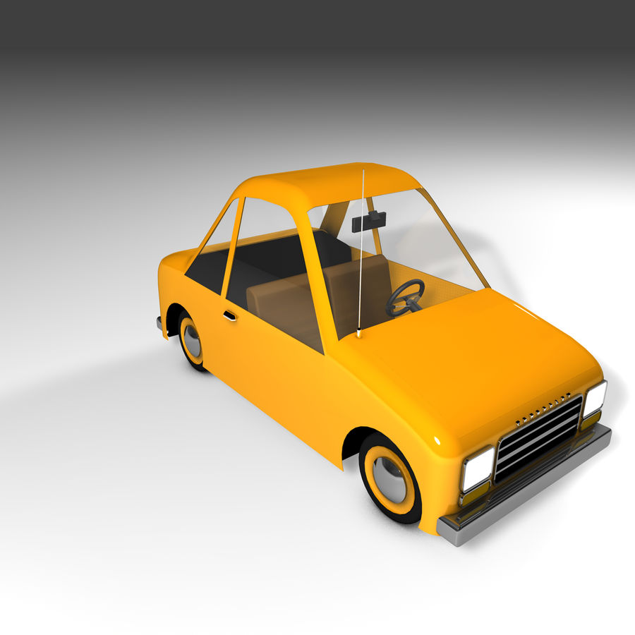 Toon Car Canardly royalty-free 3d model - Preview no. 24