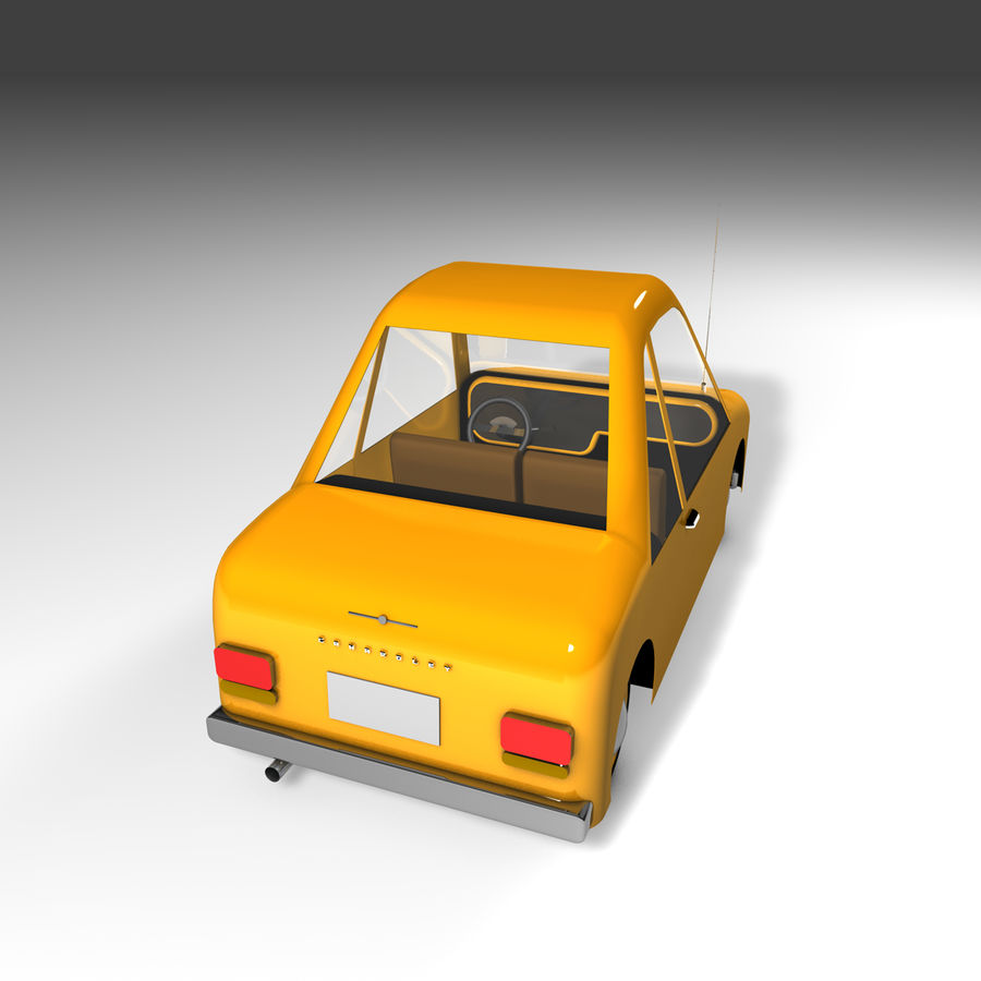 Toon Car Canardly royalty-free 3d model - Preview no. 30