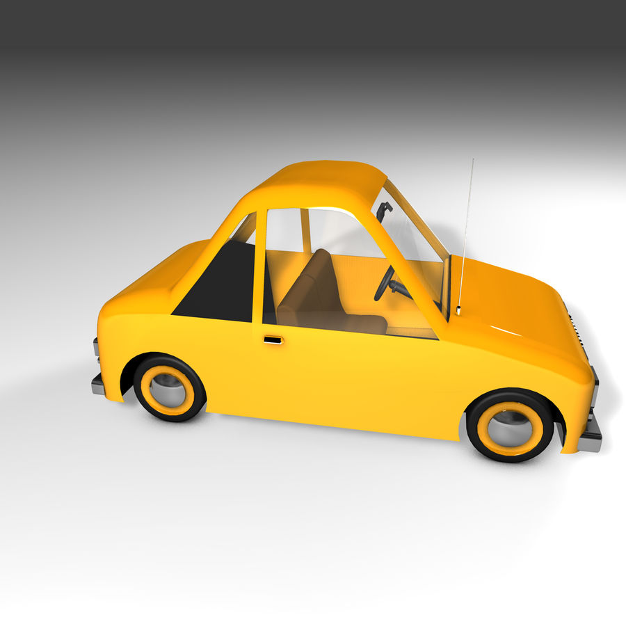 Toon Car Canardly royalty-free 3d model - Preview no. 26