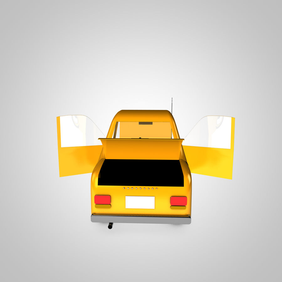 Toon Car Canardly royalty-free 3d model - Preview no. 12
