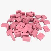 Chewing Gum Pile 03 3d model