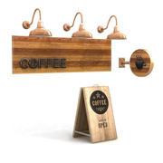 Cafe tekenen 4 3d model