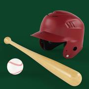 Zestaw baseballowy 3d model