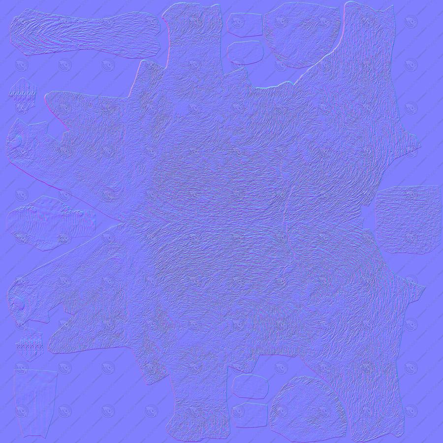 Dzik czarny royalty-free 3d model - Preview no. 23