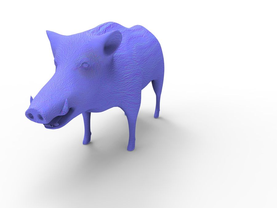 Cinghiale royalty-free 3d model - Preview no. 19