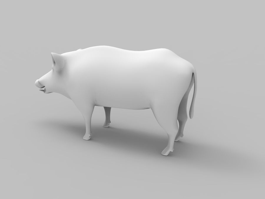 Dzik royalty-free 3d model - Preview no. 18