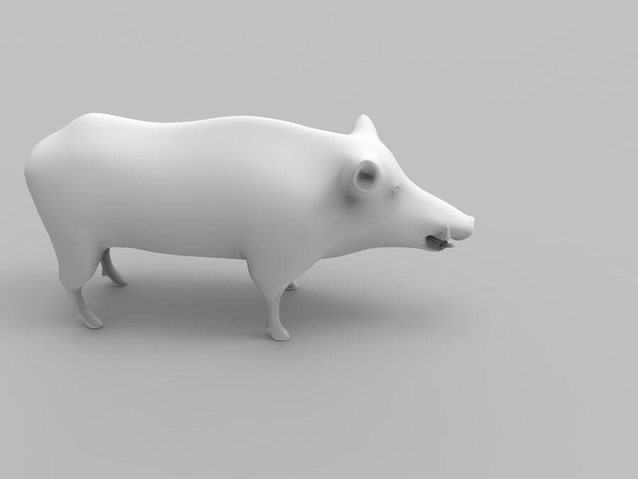 Dzik royalty-free 3d model - Preview no. 16