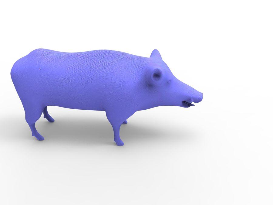 Dzik royalty-free 3d model - Preview no. 15